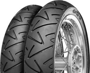 Motorradreifen Satz 100/80-17 52H + 130/70-17 62H Continental TWIST SM Sport