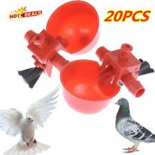 20* AUTOMATIC WATERER DRINKER CUPS CHICKEN COOP POULTRY CHOOK BIRD TURKEY DRINK