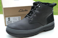Clarks BNIB Mens Walking Hiking Boots RUSHWAY MID GTX Black Leather UK 7 / 41