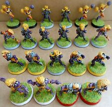 1988 elf bloodbowl 2nd edition citadel pro painted team fantasy wood elves elfes