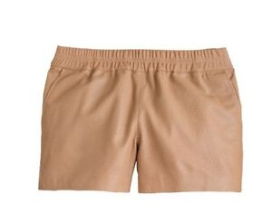 NWT $268 J Crew Collection Pink Perforated Leather 2 Pocket Shorts Size 6