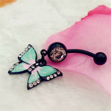 Button Ring Body Jewelry Piercing Sexy Cute Butterfly Navel Piercing Belly