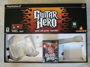 Original Guitar Hero Sony PlayStation 2 PS2 Original Box - Empty - With Game