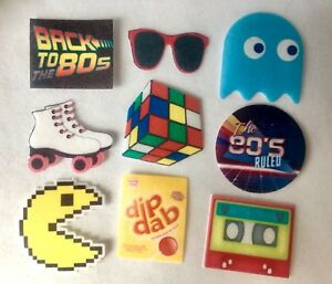 20 PRE CUT 1980's 80's Party Edible Wafer Cupcake Toppers