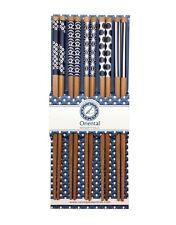5 Paar Essstäbchen BLAU MOTIV Chinesische Stäbchen Chopsticks Set Sushi 6006201