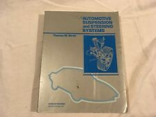 Thomas W Birch Automotive Suspension & Steering System Softback College Textbook