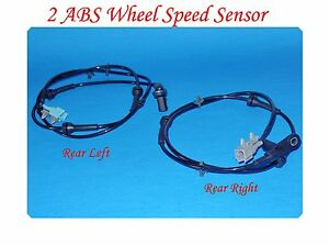 Set of 2 Wheel ABS Speed Sensor Rear Left  & Right Fits: Nissan Quest 2004-2009