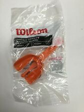 Lot Of 12 Wilson Single Density With strap adult Mouth Guards Orange