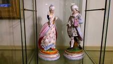 COPPIA DI SUPERBI francese antico Vion & baury Porcellana Bisque figurine 1868 +