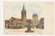 Germany, Eisenach, Karlsplatz Litho Postcard, B052