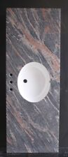 """Single OVAL Sink Multicolored Red Granite Top 61""""  For 8"""" Spread Faucet"""