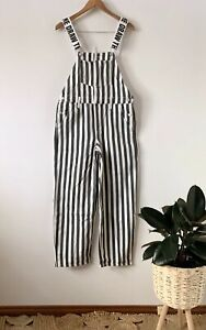 DANGERFIELD 'Draw the Line' striped fade wash overalls dungarees sz 6 | ex cond