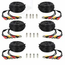 (6) 100ft BNC RCA CCTV Audio Video Power Cable CCD Security Camera DVR Wire Cord