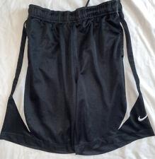 Nike Boys Basketball Athletic Gym Shorts, Size Medium, Black/ White Stripes
