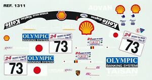 Decals for cars 1/18 - Porsche 911 GT3-R Le Mans 2000 #73