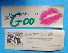SONIC YOUTH-GOO-rare original promo sticker