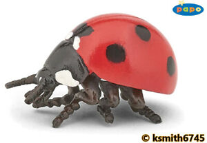 Papo SMALL LADYBIRD solid plastic toy wild animal insect bug beetle * NEW *💥