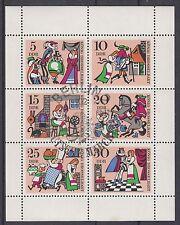 DDR Märchenkleinbogen 1323-28 gestempelt ESST (König Drosselbart)