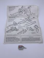 Vintage Battlestar Galactica 1978 79 Tail Fin And Instructions