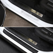 4 Pcs Car Door Scuff Sill Plates Step Plate Protector Carbon Sticker For Ford