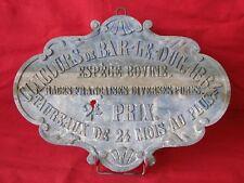 ANCIENNE PLAQUE AGRICOLE CONCOURS DE BAR LE DUC 1864 / PRIX VACHE BOVIN TAUREAU