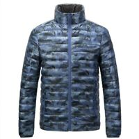 Mens Lightweight Duck Down Jacket Puffer Jacket Outwear Stand Collar Puffy Warm