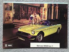 MG B 1975 Dutch Dealer Sales Brochure - Original - VG / Near Mint Condition