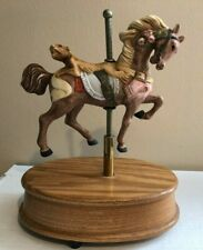 "Willitts Large Musical Carousel Horse Moves Up & Down Plays ""Memory"""