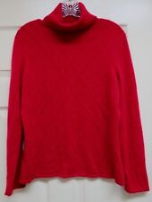 Nordstrom Classiques Entier Red 100% Cashmere PL Turtleneck Sweater Long Sleeve