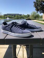 Unisex Puma navy blue suede tennis shoes women's size 10 / men's 8.5