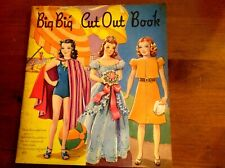 Original Vintage 1941 Big Big Cut Out Book Paper Dolls~Uncut~Book
