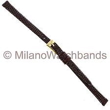 6mm Hirsch Brown Genuine Leather Lizard Grain Ladies Watch Band  1230 2610 06