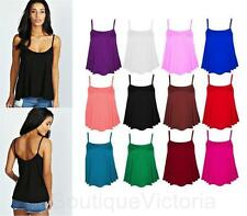 Women's Strappy, Spaghetti Strap Viscose Casual Semi Fitted Tops & Shirts