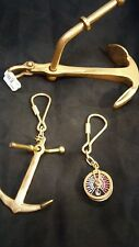 Lot of 3 Brass Nautical Sailing Themed Collectible Keychains New Old Stock