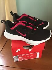 Nib Nike Hakata Size 10 Toddler Girls Shoes Black Rush Pink White