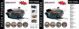 Elektrische Multipfanne, Partypfanne Pizzapfanne Elektropfanne ø42cm, 10cm tief
