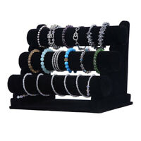 Jewelry Display Rack Multi Layers Velvet Bracelet Holder Watch Display Stand