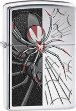 Zippo 28795 spider & web high polish chrome finish Lighter