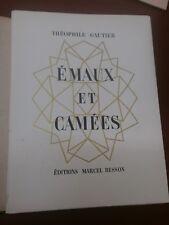 Th. Gautier Emaux et camées Illustré par Guilmin Tirage limité Portfolio
