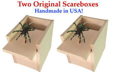 Two (2) SPIDER SCARE BOXES Scarebox Prank Funny Gift Hilarious Scary Joke