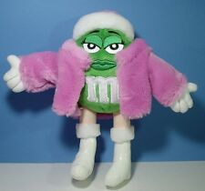 Adorable Green M n M Lady in Pink Fur Jacket n Hat n White Boots n Gloves Plush