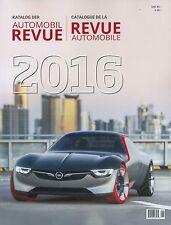 2016 KATALOG DER AUTOMOBIL REVUE JAHRESAUSGABE BUCH YEARBOOK BOOK DE / FR