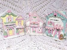 Shabby Christmas Cottage Chic Village Small Victorian Restaurant Pet Ice Cream #