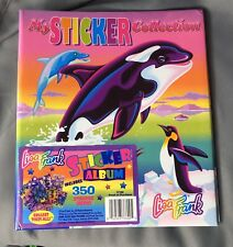 Vintage Lisa Frank 3 Ring Binder Folder Sticker Collection Book Max Splash