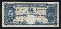 Australia R-48. (1952) Five Pounds. Coombs/Wilson -  George VI..  VF