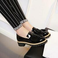 Women cute tassel loafers patent leather platform slip on casual flat heel shoes