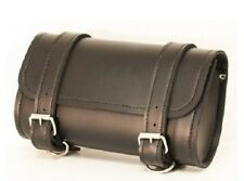 Motorcycle Handlebar Bag Leather Universal Travel Luggage Tool Pouch Carry Cluch