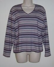 """Hasting & Smith Long Sleeve Striped Pull Over Top XL  Bust 38""""  Length 23"""""""