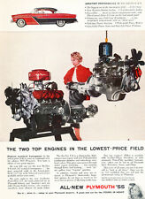 1955 Plymouth Color coupe -  Classic Car Advertisement Print Ad J111