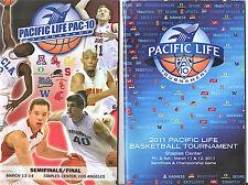 2009 & 2011-Pac-10 Basketball Tournament-Programs-Lot Of 2-Nmt